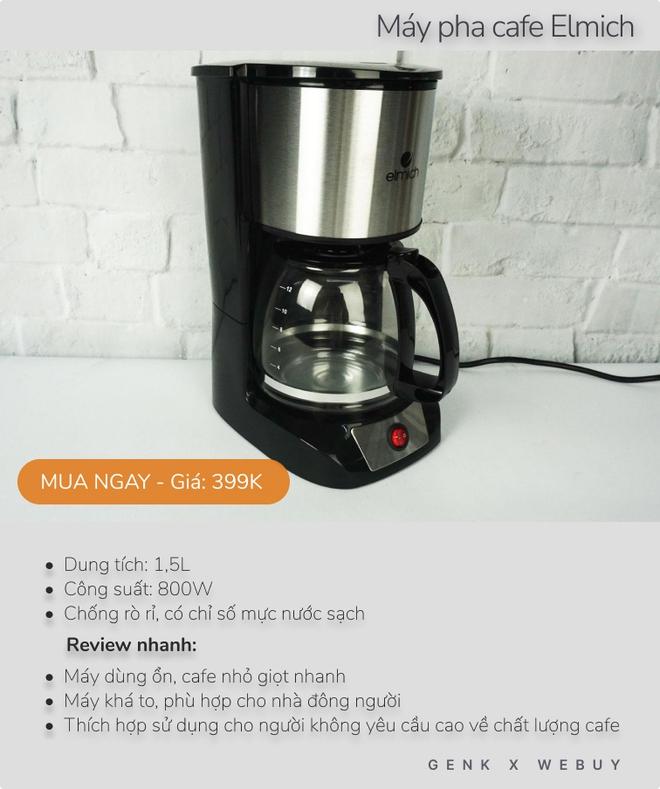 Review siêu tốc 5 máy pha cafe dưới 600K cho mùa giãn cách, loại rẻ nhất chỉ 160K - Ảnh 3.