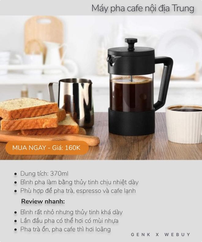 Review siêu tốc 5 máy pha cafe dưới 600K cho mùa giãn cách, loại rẻ nhất chỉ 160K - Ảnh 4.
