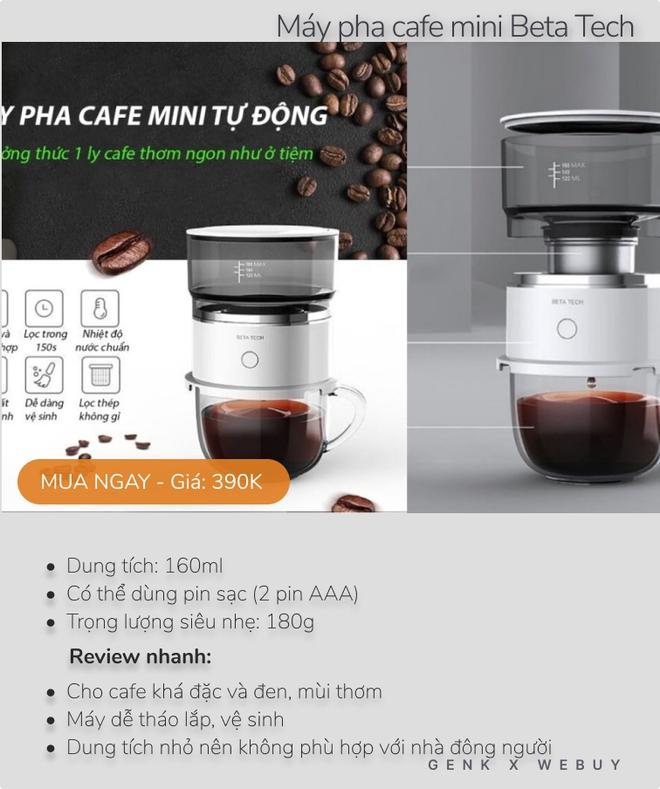 Review siêu tốc 5 máy pha cafe dưới 600K cho mùa giãn cách, loại rẻ nhất chỉ 160K - Ảnh 5.