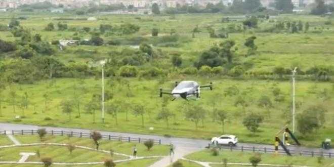 Hãng xe điện Trung Quốc ra mắt nguyên mẫu xe bay tự hành mới, kỳ vọng sớm thương mại hóa sản phẩm - Ảnh 1.