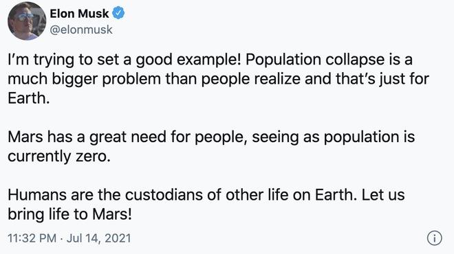 Elon Musk cảnh báo về sự sụt giảm dân số trên Trái Đất, nói rằng Sao Hỏa cần con người - Ảnh 2.