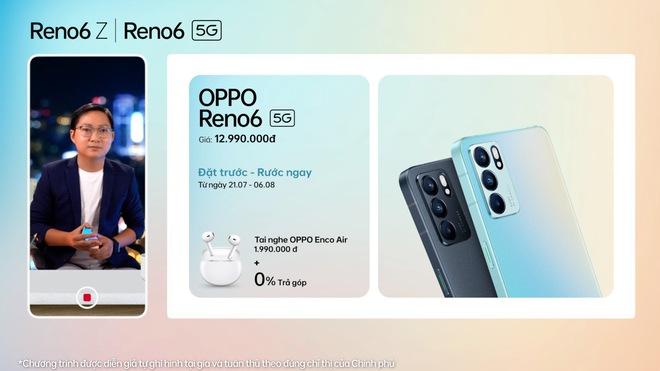 OPPO Reno6/6 Z 5G chính thức ra mắt: Thiết kế Reno Glow ấn tượng, camera nâng cấp, sạc nhanh VOOC đủ cả, giá từ 9.49 triệu - Ảnh 5.