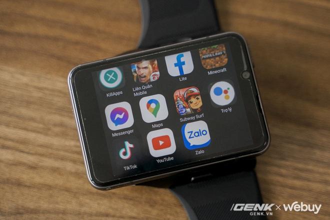 """Trên tay Lokmat Appllp Max: Smartwatch """"siêu to khổng lồ"""" chạy Android, có 4G, cấu hình """"ngon"""", đánh game phà phà - Ảnh 11."""