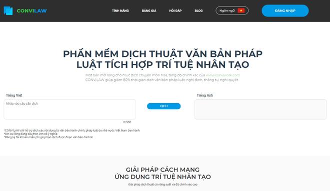 Sử dụng trí tuệ nhân tạo, startup Việt phát triển công cụ dịch văn bản pháp luật CONVILAW, tốc độ dịch nhanh và độ chính xác cao - Ảnh 1.
