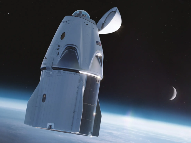 """Phi hành đoàn trên chuyến bay thương mại SpaceX sẽ có toilet """"view nghìn đô"""" với cửa sổ vòm - Ảnh 1."""