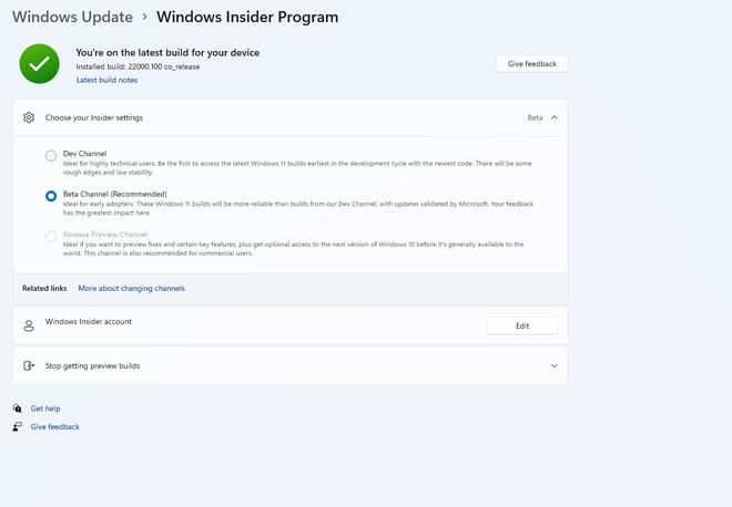 Microsoft chính thức tung ra bản beta đầu tiên của Windows 11 - Ảnh 1.