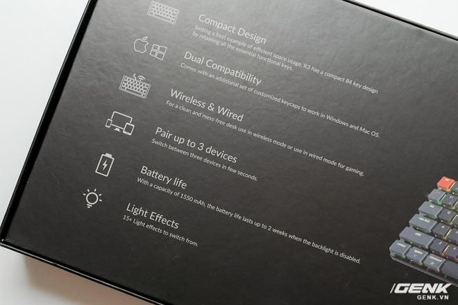 Trên tay Keychron K3 - Bàn phím cơ không dây siêu mỏng, thay được cả switch - Ảnh 2.