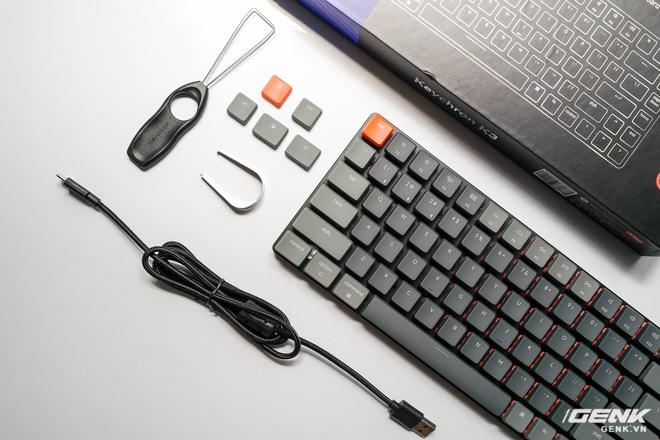 Trên tay Keychron K3 - Bàn phím cơ không dây siêu mỏng, thay được cả switch - Ảnh 3.
