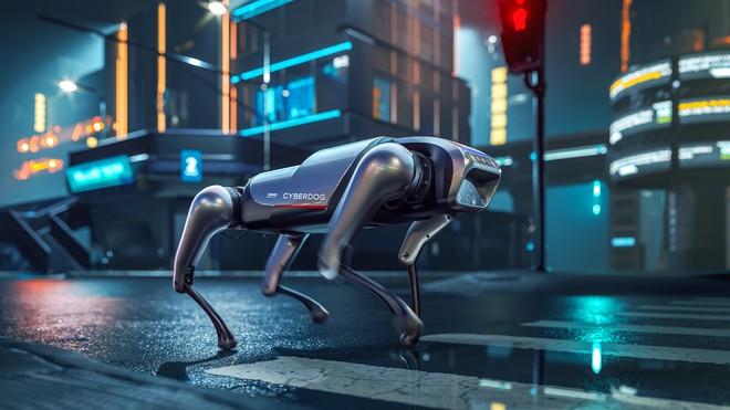Xiaomi công bố robot chó CyberDog: đầu có chip AI, 128GB ROM, chạy 11.5km/giờ và biết nhào lộn - Ảnh 1.