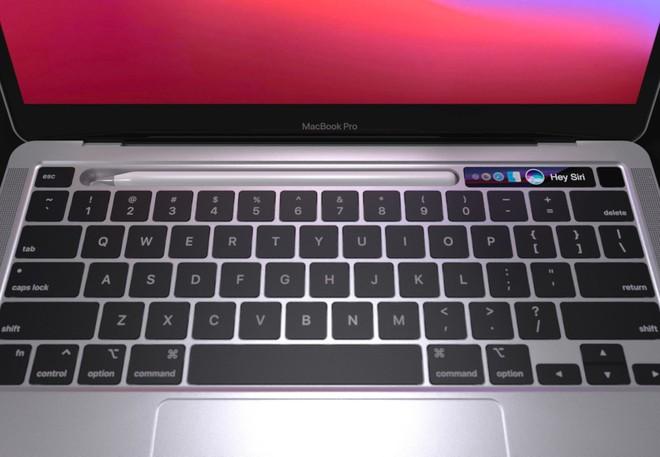 Lộ diện mô hình MacBook Pro với khay chứa bút cảm ứng - Ảnh 2.