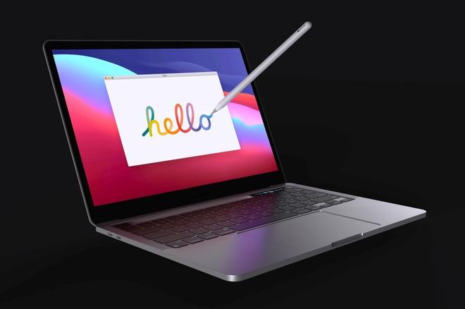 Lộ diện mô hình MacBook Pro với khay chứa bút cảm ứng - Ảnh 7.