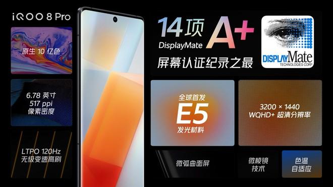 iQOO 8 và 8 Pro ra mắt: Màn hình OLED E5 đầu tiên, Snapdragon 888+, sạc nhanh 120W, giá từ 13.4 triệu đồng - Ảnh 3.