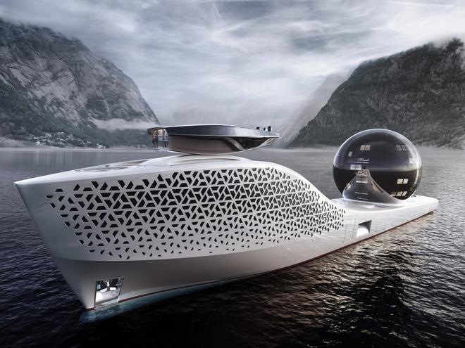 Siêu du thuyền chạy bằng năng lượng hạt nhân này sẽ trở thành trung tâm nghiên cứu khoa học trên biển cả - Ảnh 1.