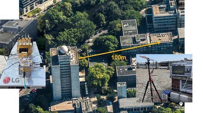 LG thử nghiệm thành công việc truyền tải ngoài trời mạng 6G THz - Ảnh 1.