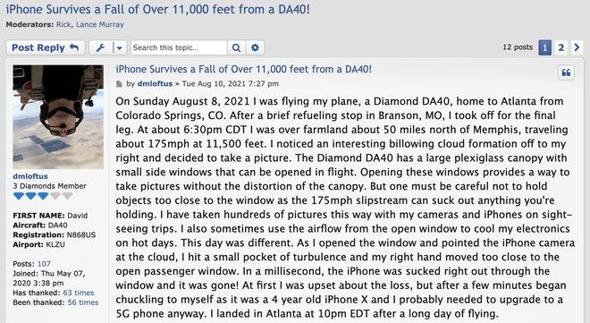 Rơi từ độ cao 3.5km, iPhone X vẫn sống sót và hoạt động bình thường mà không một vết xước - Ảnh 1.