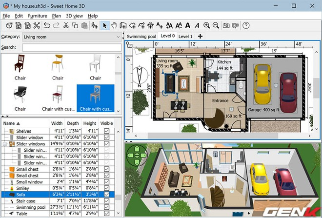 Anh em thích DIY bơi hết vào đây: 5 phần mềm thiết kế nội thất đã nhiều chức năng lại còn miễn phí - Ảnh 6.