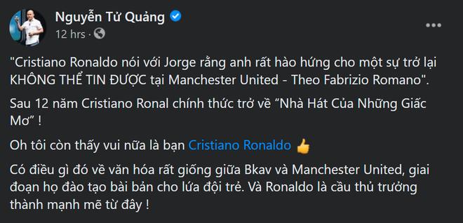 Nói BKAV và Man Utd giống nhau về văn hoá, CEO BKAV Nguyễn Tử Quảng bị cộng đồng mạng phản pháo - Ảnh 1.
