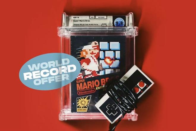 Sau màn đấu giá 1,5 triệu USD, băng điện tử Mario lại lập kỷ lục mới với giá 2 triệu USD - Ảnh 1.