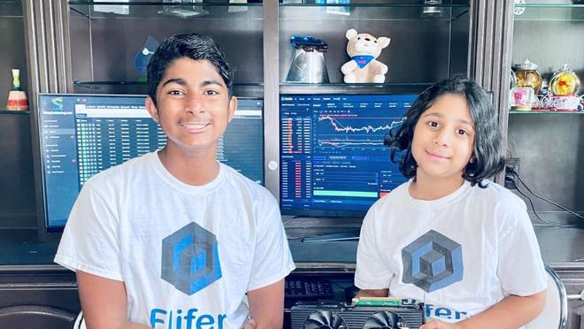 Hai anh em 14 và 9 tuổi này kiếm được hơn 30.000 USD mỗi tháng nhờ khai thác tiền điện tử - Ảnh 2.
