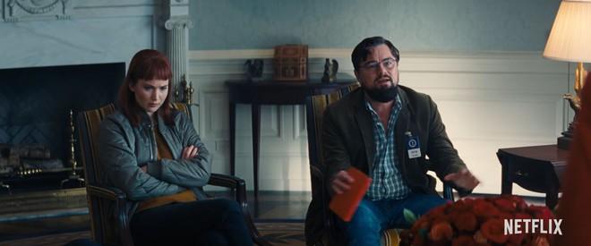 Netflix tung trailer cho Dont Look Up, bom tấn quy tụ dàn cast siêu khủng: Leo DiCaprio, Jennifer Lawrence, Timothee Chalamet và Chris Evans - Ảnh 2.
