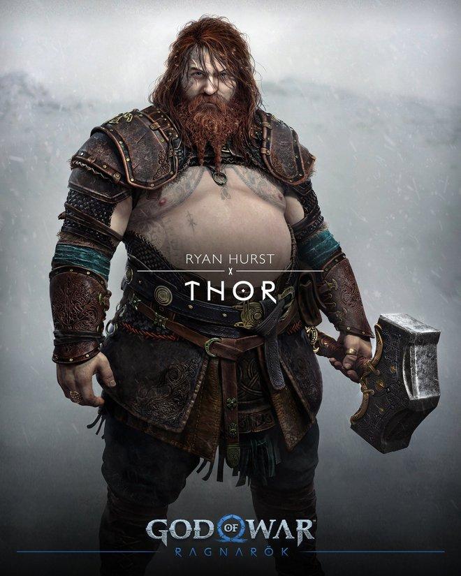 Đúng là Thor trong God of War Ragnarok bụng to thật, nhưng đây là béo khỏe béo đẹp - Ảnh 1.