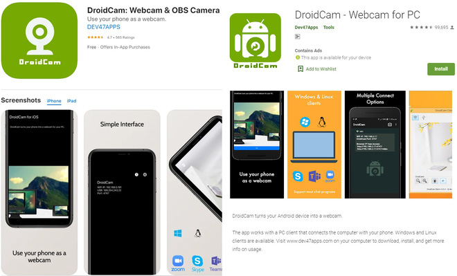 Học online nhưng chưa có webcam, làm theo cách sau để tận dụng luôn camera của iPhone và điện thoại Android - Ảnh 1.