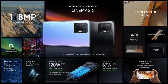 Xiaomi 11T Pro chính thức ra mắt: Sạc nhanh lên đến 120W, quay video 8K HDR10+, Snapdragon 888, giá từ 17,4 triệu đồng - Ảnh 1.