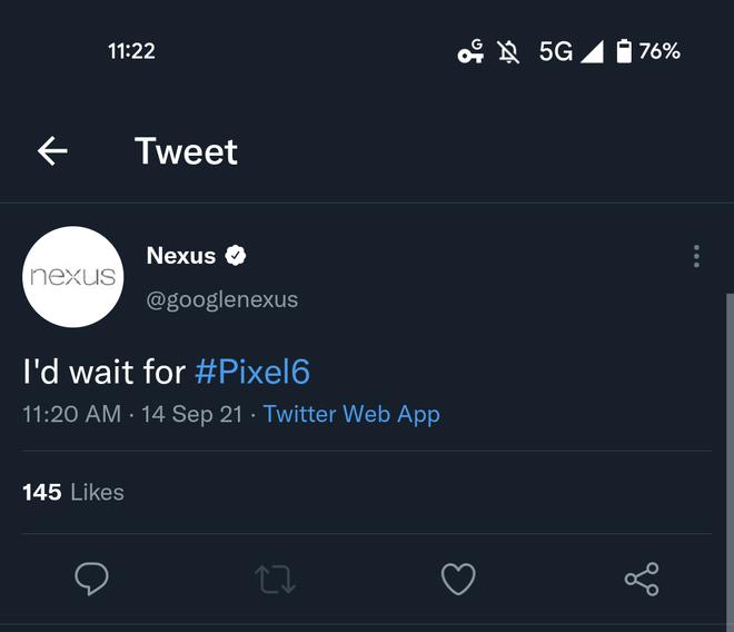 iPhone 13 quá nhàm chán, tài khoản Google Nexus phải đội mồ sống dậy sau 4 năm để nói rằng: Sẽ chờ Pixel 6 - Ảnh 2.