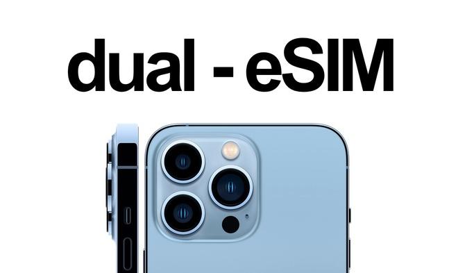 iPhone 13 hỗ trợ eSIM kép, có thể dùng 2 SIM mà không cần đến SIM vật lý - Ảnh 1.
