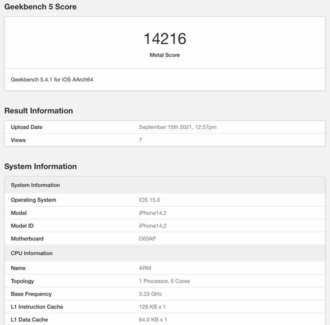 Chip A15 Bionic trên iPhone 13 đã có điểm benchmark - Ảnh 2.