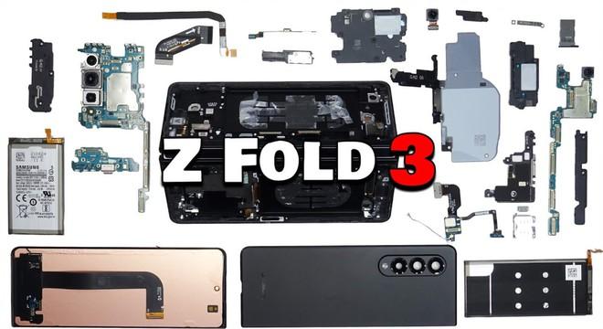 Mổ bụng Galaxy Z Fold 3: Khó sửa chữa, khó tháo lắp và hệ thống linh kiện phức tạp - Ảnh 2.