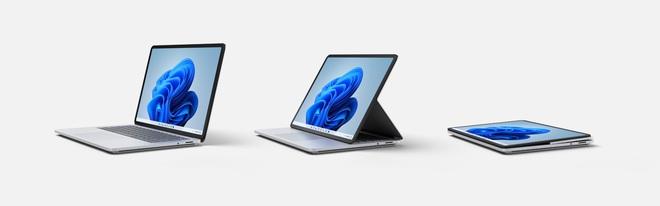 Microsoft ra mắt Surface Laptop Studio: Thiết kế biến hoá từ laptop sang tablet - Ảnh 1.