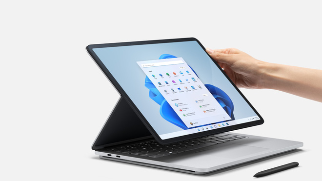 Microsoft ra mắt Surface Laptop Studio: Thiết kế biến hoá từ laptop sang tablet - Ảnh 4.