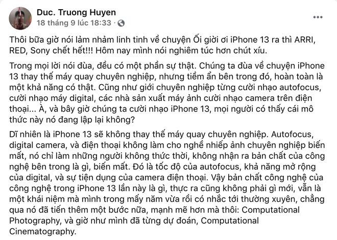 Giám đốc kỹ thuật của hàng loạt phim Việt đình đám nói gì về công nghệ Cinematic Mode trên iPhone 13? - Ảnh 2.