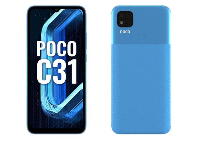 POCO C31 ra mắt: Helio G35, pin 5000mAh, kháng nước, giá từ 2.8 triệu đồng - Ảnh 1.