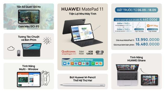 Huawei ra mắt máy tính bảng MatePad 11 tại VN: Màn hình 120Hz, Snapdragon 865, giá từ 14 triệu đồng - Ảnh 6.