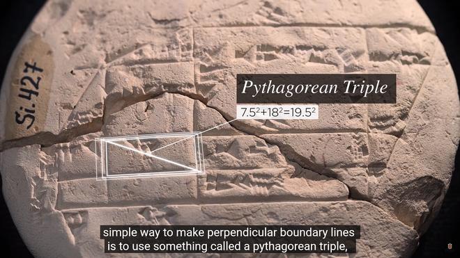 Miếng đất sét 3.700 năm tuổi đã giúp chứng minh định lý Pitago đã được ứng dụng trước khi nhà triết học Pythagoras ra đời - Ảnh 5.