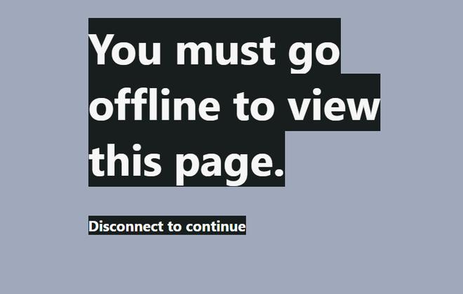 Bạn phải trong trạng thái offline để xem trang này.  Hãy ngắt kết nối để tiếp tục.