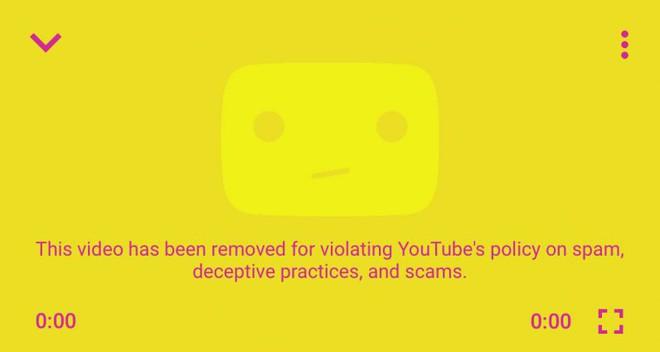 Google gắn cờ đoạn video quảng cáo cho sản phẩm của chính mình.