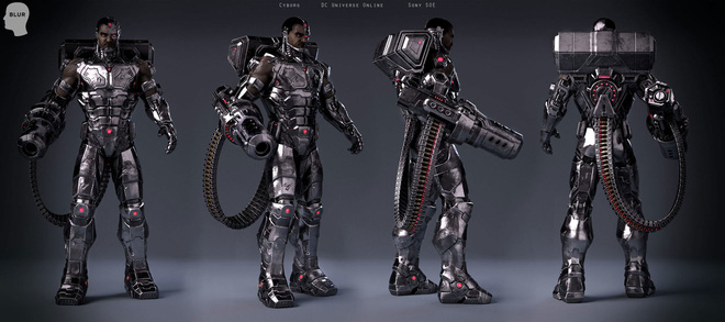 Dàn vũ khí cực khủng được trang bị trên người của Cyborg.