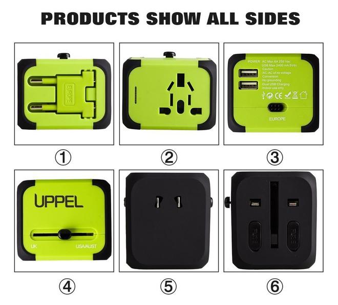Nhỏ gọn, đa năng chính là ưu điểm lớn của cục adapter này. Sản phẩm của hãng UPPEL được giảm giá 27% còn 15,99 USD (khoảng 363.000 đồng).