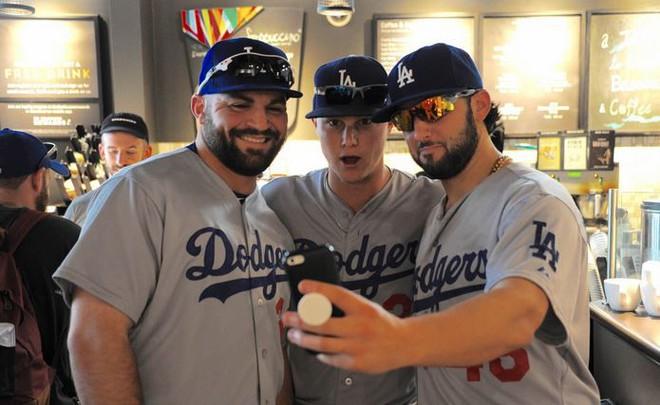 Còn đây là các tuyển thủ của đội bóng chày nổi tiếng LA Dodgers