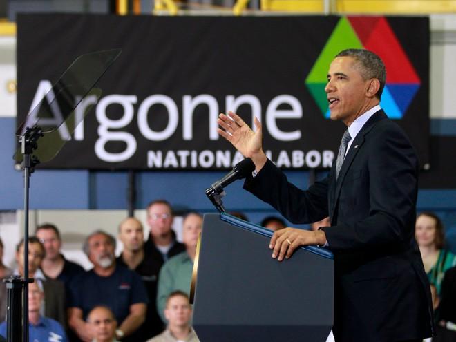 Cựu Tổng thống Barack Obama đã dành lời khen cho năng lượng do Argonne cung cấp vào ngày 15/3/2013.