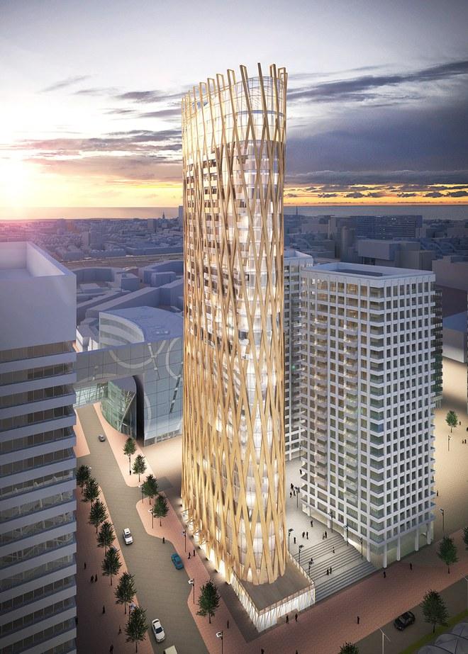 Công ty PLP Architecture đang thực hiện dự án xây dựng tòa nhà bằng gỗ tại Hà Lan.