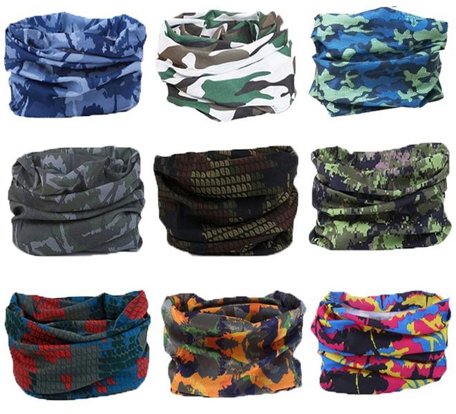 Những chiếc khăn đa năng đồng hành với bạn trên hành trình du lịch với đủ chức năng: quàng cổ, cố định tóc, buộc các đồ đạc... Set 9 chiếc khăn từ Kingree đang được giảm giá còn 13,95 USD (khoảng 317.000 đồng), tính ra mỗi chiếc chỉ 35.000 đồng.