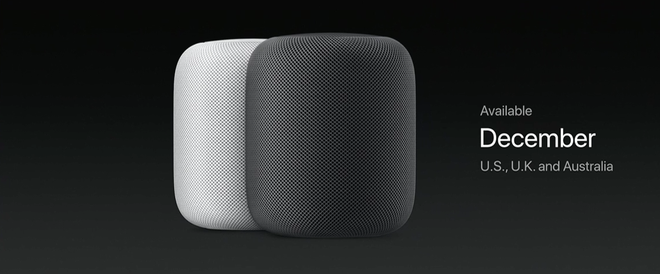 Apple đã dự định đưa HomePod lên kệ vào tháng 12 năm nay trước khi quyết định lùi lịch sang đầu năm 2018.
