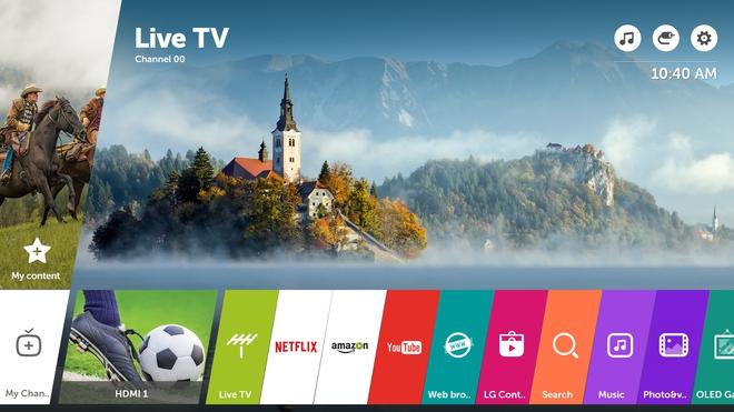 Nền tảng WebOS 3.5 trên các Smart TV của LG