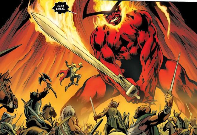 Surtur là kẻ thù nguy hiểm nhất của các vị thần Asgard!