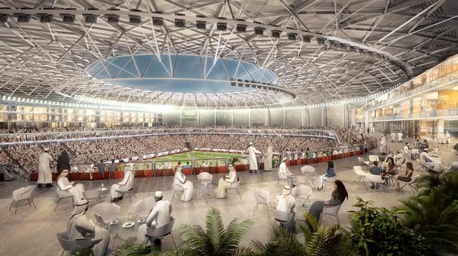 Sân vận động sẽ có cả một vòng bao hành lang rộng lớn, cho phép bạn vừa ăn uống, cà phê, vừa được chứng kiến những ngôi sao hàng đầu thế giới thi đấu.