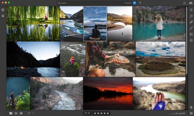 Chỉ cần nhập một từ khóa cụ thể, Lightroom sẽ tự động hiển thị toàn bộ những bức ảnh liên quan.